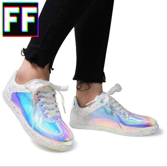 724c5ea001dde Aurora Holographic Glitter Sneakers